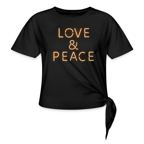 Love And Peace Neon - Knotenshirt