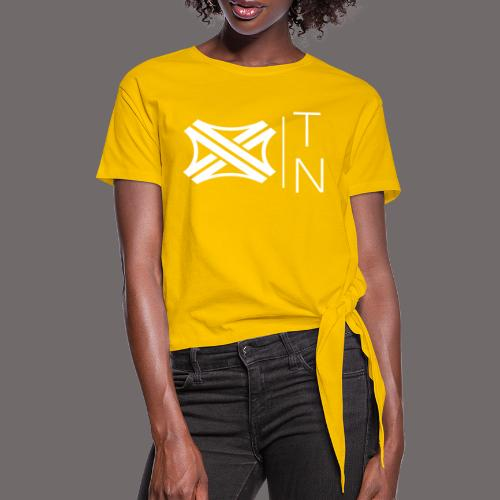 Tregion logo Small - Women's Knotted T-Shirt