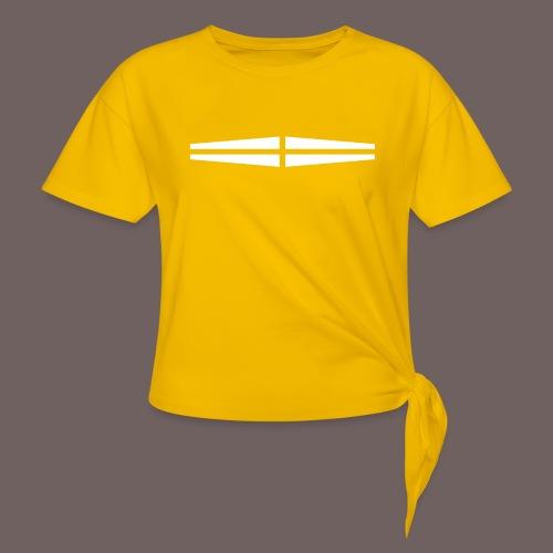 GBIGBO zjebeezjeboo - Rock - Traversant Blanc - T-shirt à nœud Femme