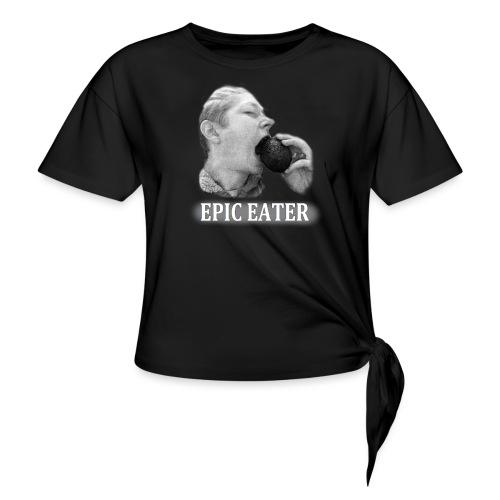 EPIC EATER - T-shirt med knut dam