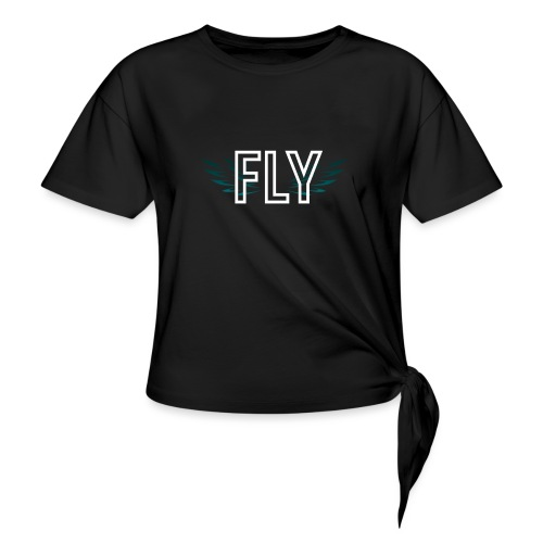 Wings Fly Design - Women's Knotted T-Shirt
