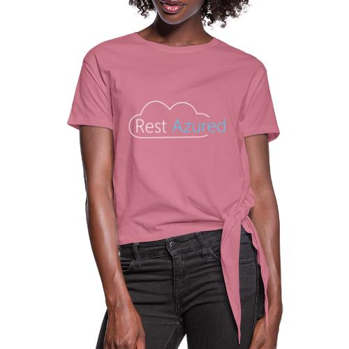 Rest Azured # 2 - Women's Knotted T-Shirt