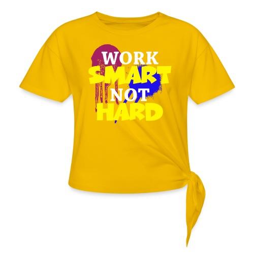 travailler intelligemment pas difficile - T-shirt à nœud
