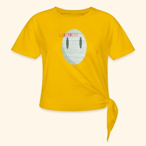 Lberosis - T-shirt med knut dam