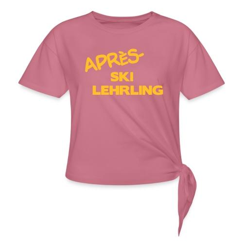 Après Ski Lehrling, Winter Shirt - Knotenshirt