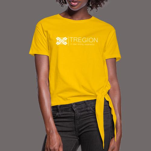 Tregion Logo wide - Women's Knotted T-Shirt