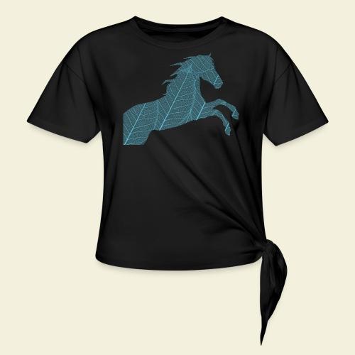 Cheval feuille - T-shirt à nœud Femme