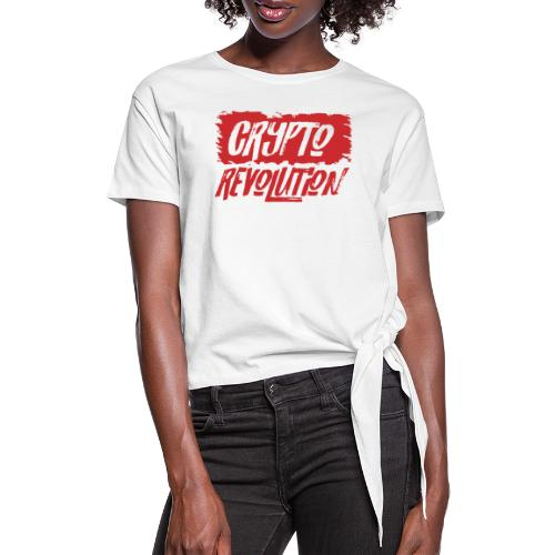 Crypto Revolution - Women's Knotted T-Shirt