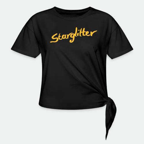 Starglitter - Lettering - Women's Knotted T-Shirt