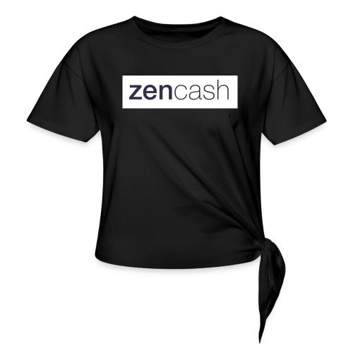 ZenCash CMYK_Horiz - Full - Knotted T-Shirt
