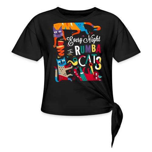 Chats Musique - Rumba salsa mambo - T-shirt à nœud