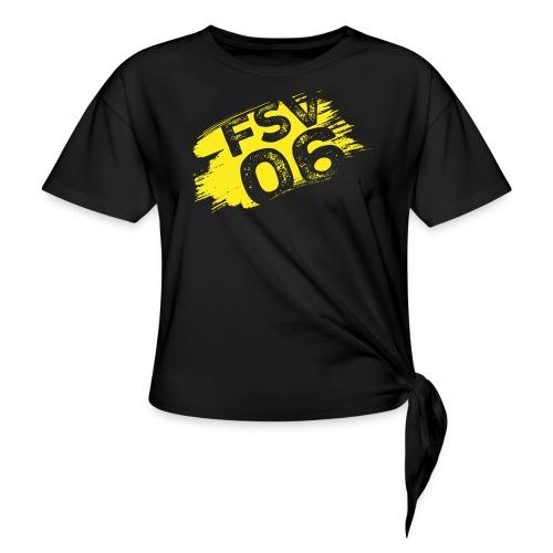 Hildburghausen FSV 06 Graffiti gelb - Frauen Knotenshirt