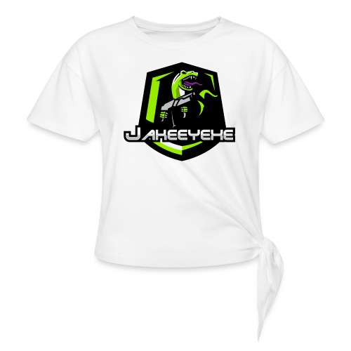 JakeeYeXe Badge - Women's Knotted T-Shirt