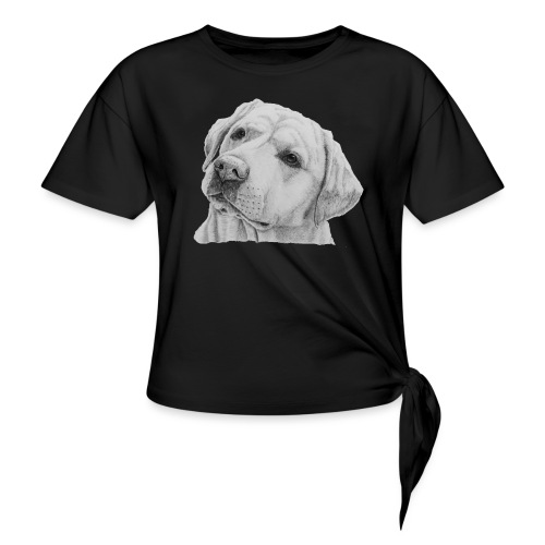 labrador retriever yellow - head - Knot-shirt