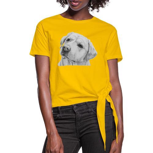 labrador retriever yellow - head - Dame knot-shirt
