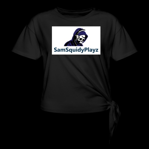SamSquidyplayz skeleton - Knotted T-Shirt
