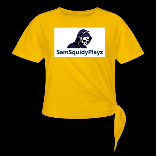SamSquidyplayz skeleton - Women's Knotted T-Shirt