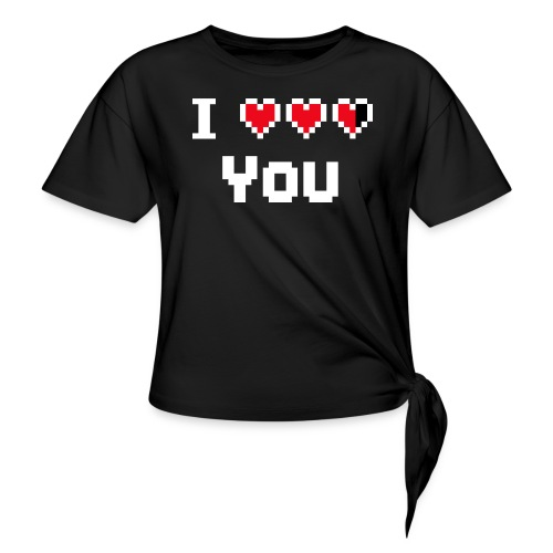 I pixelhearts you - Vrouwen Geknoopt shirt