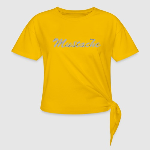 White Lettering - Knotted T-Shirt