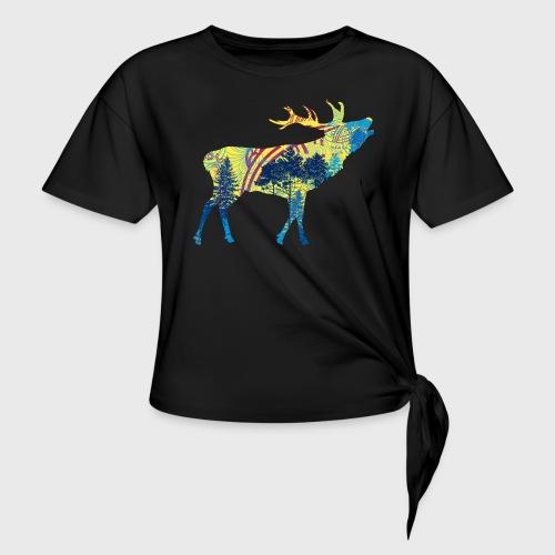Cerf dans la forêt - T-shirt à nœud