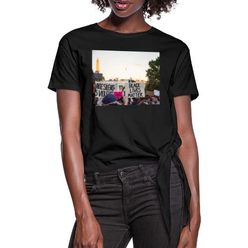 Black lives matter - Women's Knotted T-Shirt