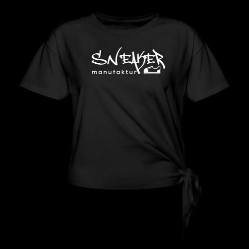 Sneakermanufaktur Linz - black edition - Frauen Knotenshirt