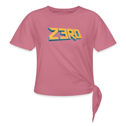 The Z3R0 Shirt - Women's Knotted T-Shirt