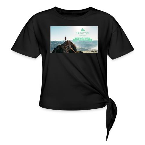 fbdjfgjf - Knotted T-Shirt