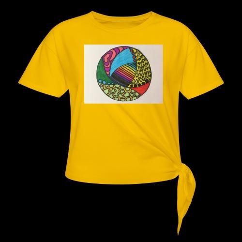 circle corlor - Dame knot-shirt