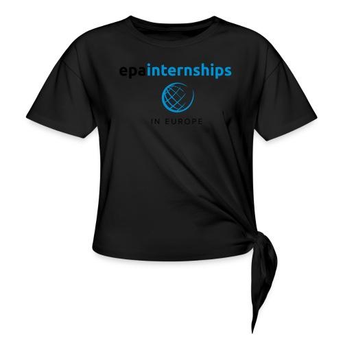 EPA Shirt Black - Women's Knotted T-Shirt