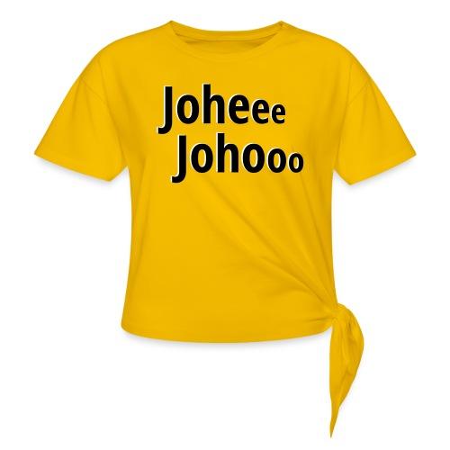 Premium T-Shirt Johee Johoo - Vrouwen Geknoopt shirt