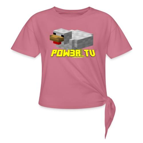 POW3R-IMMAGINE - Maglietta annodata da donna