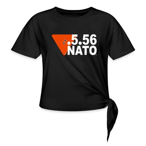 .5.56 NATO BLANC - T-shirt à nœud