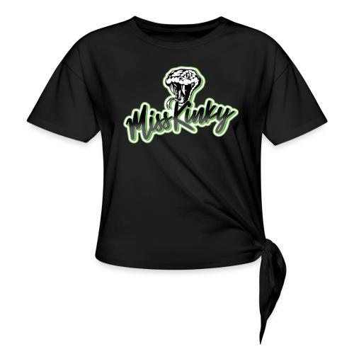 Logo Miss Kinky vert - T-shirt à nœud Femme