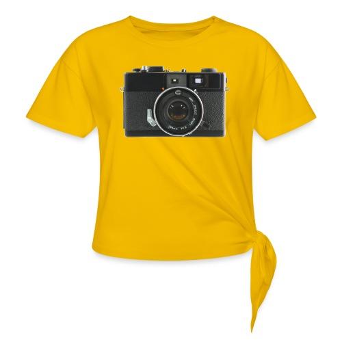 Vintage Camera Auto S3 - Maglietta annodata da donna