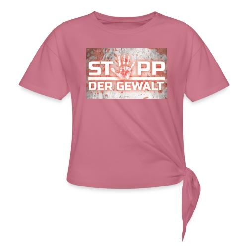 STOPP DER GEWALT - Women's Knotted T-Shirt