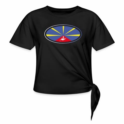 Paddle Reunion Flag - T-shirt à nœud Femme