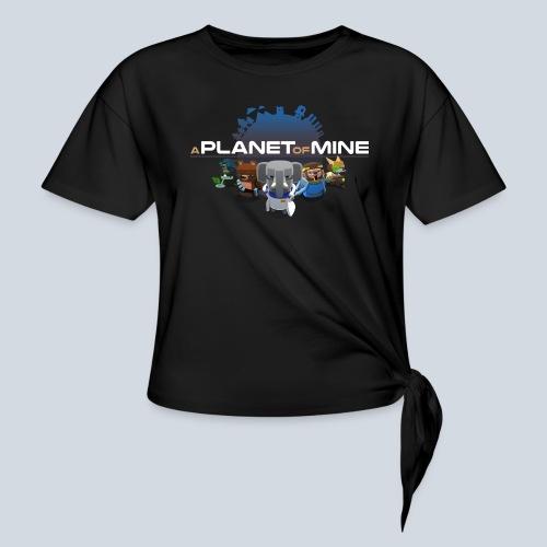 logo planetofmine dark HD - T-shirt à nœud