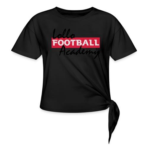 Lollo Acadmey - T-shirt med knut dam