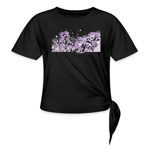 pink digital theme 897 - Koszulka z wiązaniem