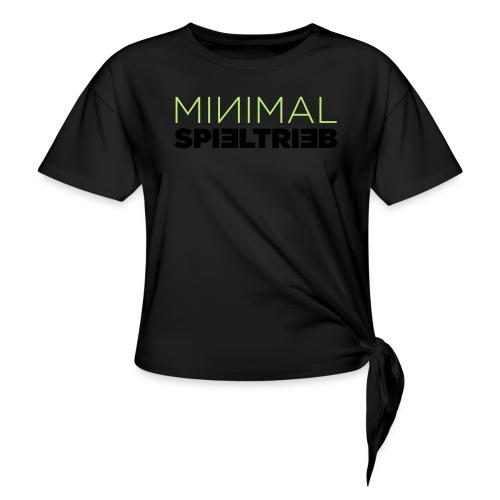 minimal spieltrieb - Knotenshirt