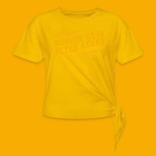 tshirt yllw 01 - Vrouwen Geknoopt shirt