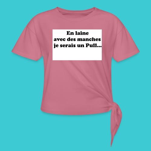 t-shirt humour - T-shirt à nœud Femme
