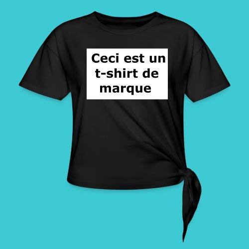t-shirt2 - T-shirt à nœud Femme