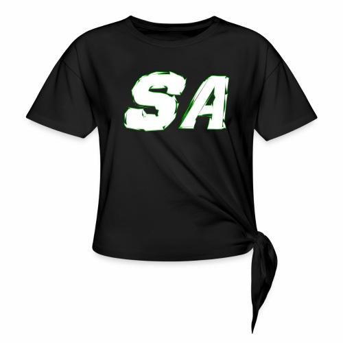 Vit SA Logo - T-shirt med knut dam