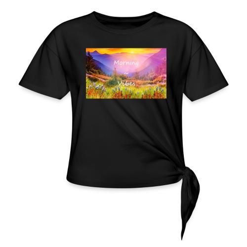 Morning vibes - T-shirt med knut dam