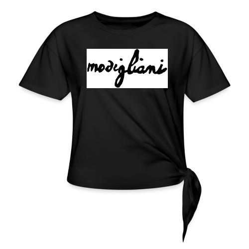 firm_white_black_big - Maglietta annodata