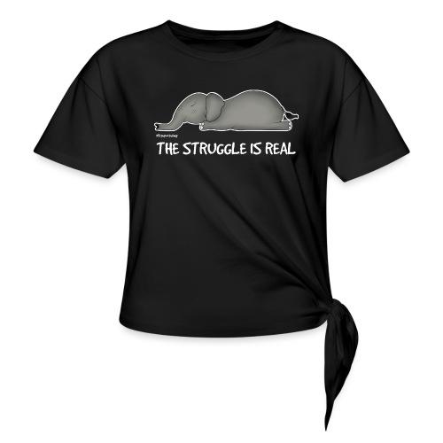 Amy's 'Struggle' design (white txt) - Women's Knotted T-Shirt
