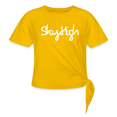 SkyHigh - Women's Hoodie - White Lettering - Knotted T-Shirt