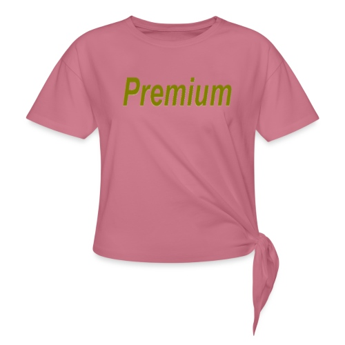 Premium - Women's Knotted T-Shirt